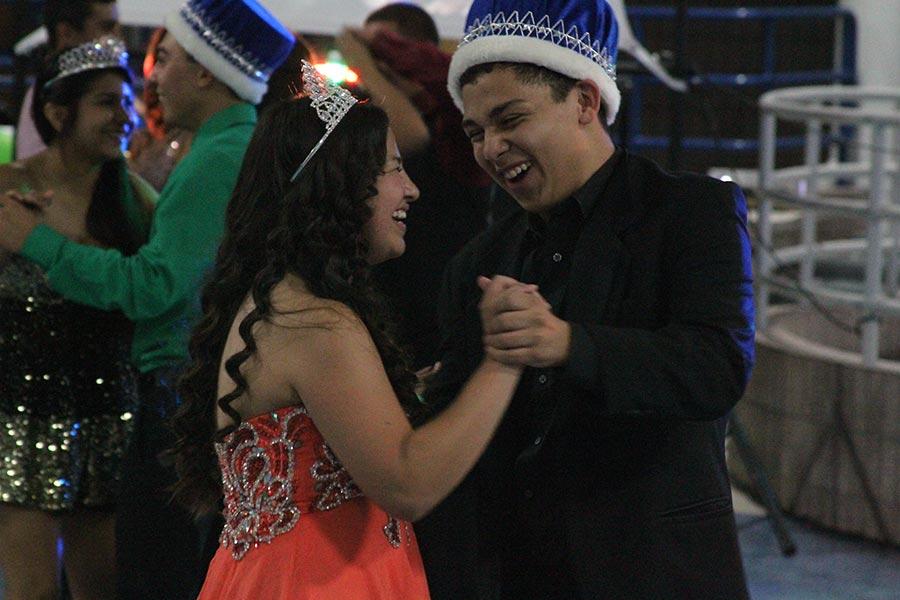 Felicia and Armando share a royal dance.