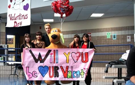 Students showing Valentine's Day spirit.