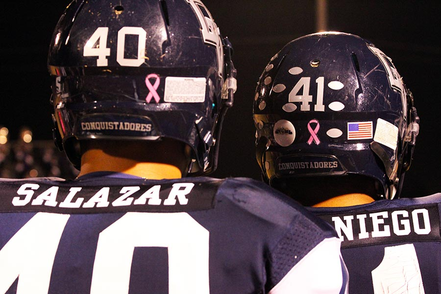 Varsity football team supports Breast Cancer Awareness