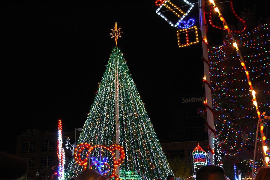 City Christmas tree.
