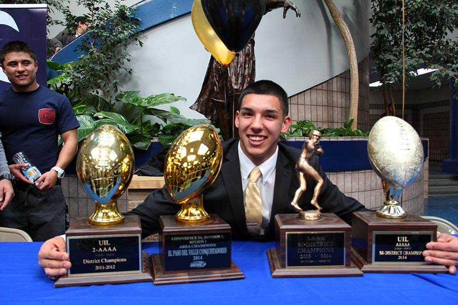 Steven and trophies.