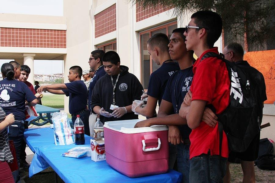 JROTC selling root beer floats.