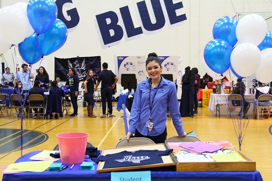 Student council president Nallely Ramirez on Blue & Silver Day.