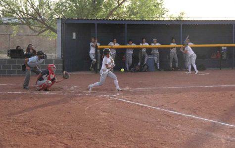 Second baseman Aryiah hit  a pop fly, April 11.
