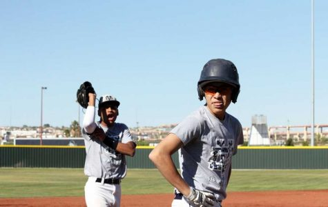 Varsity baseball team goes from pitches to hits
