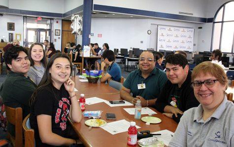 Student leaders, sponsors at last Leadership Meeting