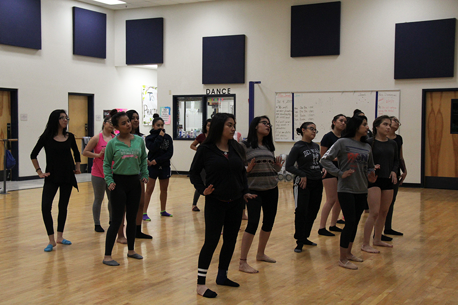 Level 3 dancers practice for recital set for Dec. 16.