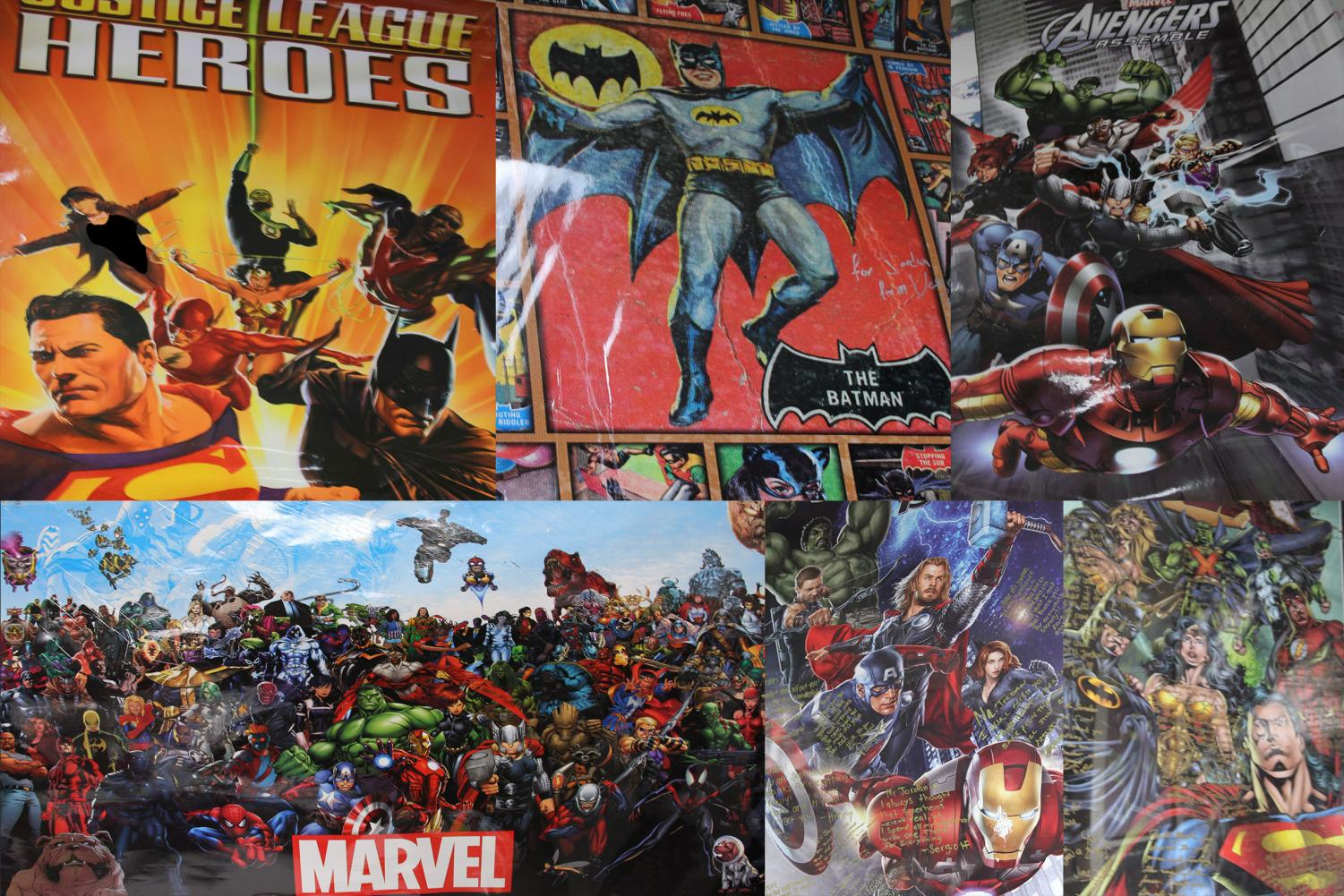 Jordan's collection of super hero posters