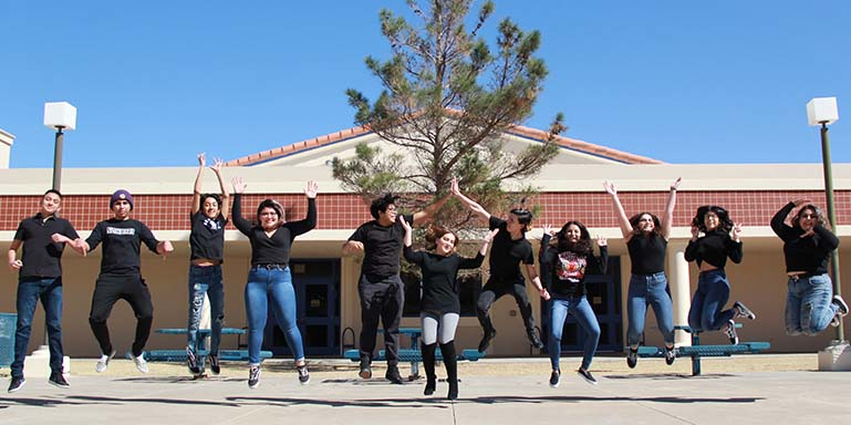 The Expedition staff takes their traditional jump shot.