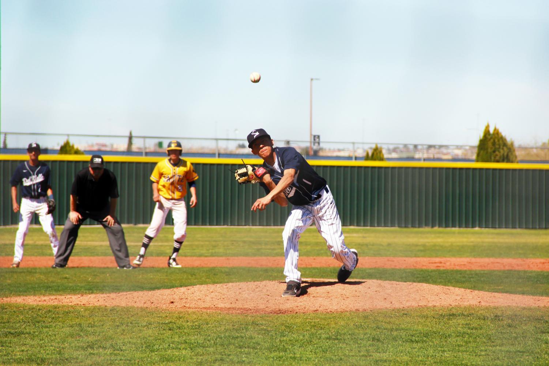 Alejandro pitches against Faith Christian Academy, March 1.