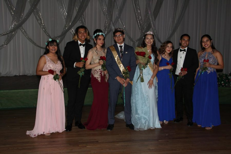 Prom 2019 royalty cadidates in order from left to right, Mildred Muro, Chris Moreno, Alidd Ramirez Mendoza, Bryan Delgado, Marisa Tovar, Lina Duchene, Andres Manriques and Paola Gutierrez.