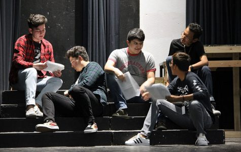 Grease cast members rehearse Summer Night, Oct. 4.
