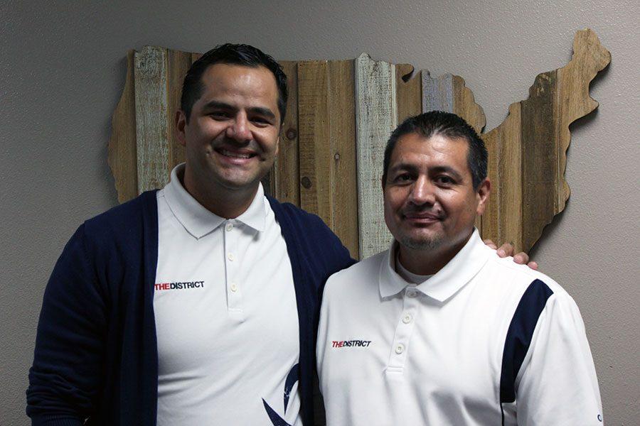 Assistant principals Daniel Medina and Efren Tarango in Medina's office Oct. 6.