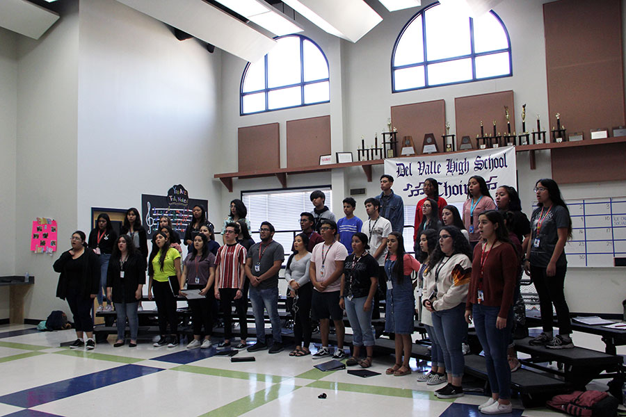 Choir practices for the All Region contest.