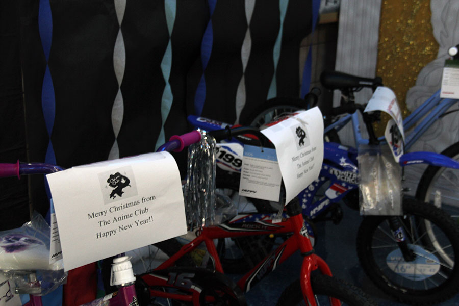Bicycles that have been bought by different organizations to donate. Dec 20.
