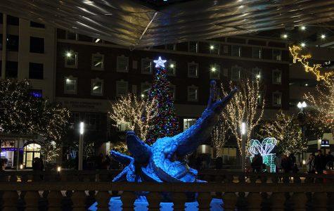 San Jacinto Plaza  Christmas display.