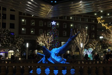 San Jacinto Plaza  Christmas display.