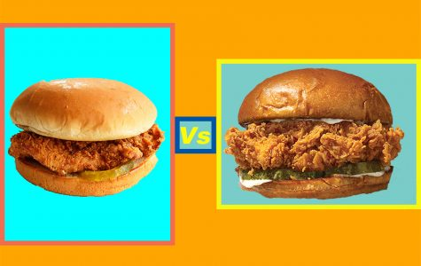 Popeyes and Chick-Fil-A chicken sandwiches.
