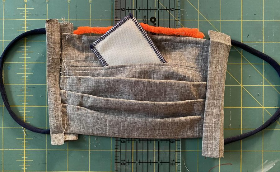 All the components of come together in this home sewn mask.