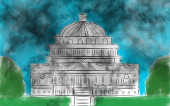 Captiol Hill smokes in riot aftermath.