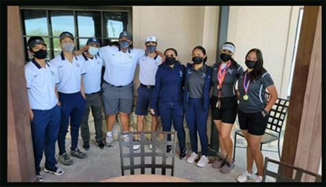 2020-2021 golf team.