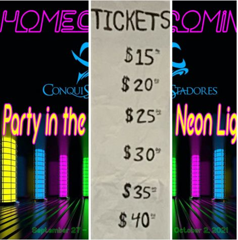Homecoming dance ticket prices increase throughout the week.